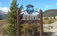 Colorado Town Motto Alma Tanda Selamat Datang