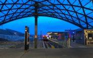 Malam Stasiun Kereta Bandara Denver